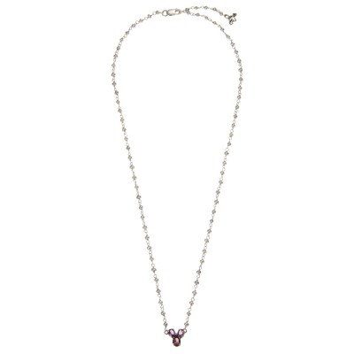 Amethyst Trefoil and Pearl necklace Whole ATPeNMVLtdEd