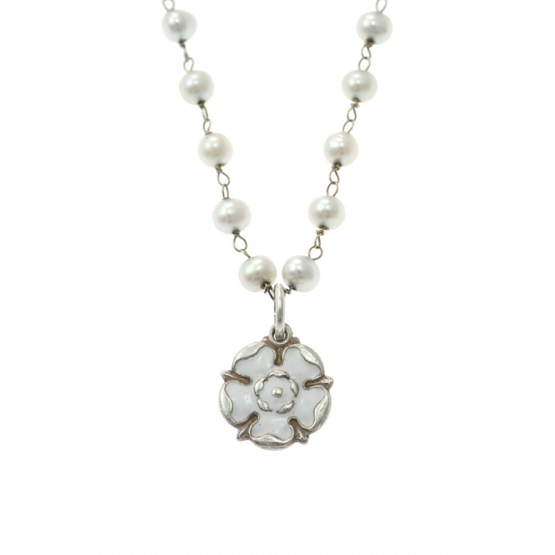 York rose Pearl Necklace close WYRPeNMVLtdEd2