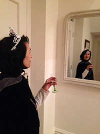 Lucia in a tiara