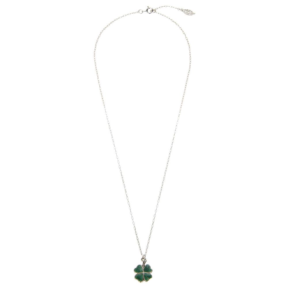 Wonderful Enamel Four Leaf Clover Necklace – Anne Bowes Jewellery VU43