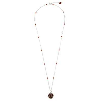 Lancaster Rose with Cornelians Necklace Whole LRCoNLtdEd